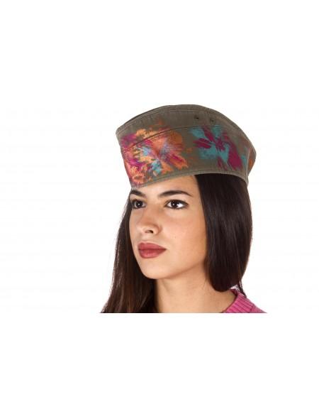 MUTADESIGN cappellino vintage dipinto a mano