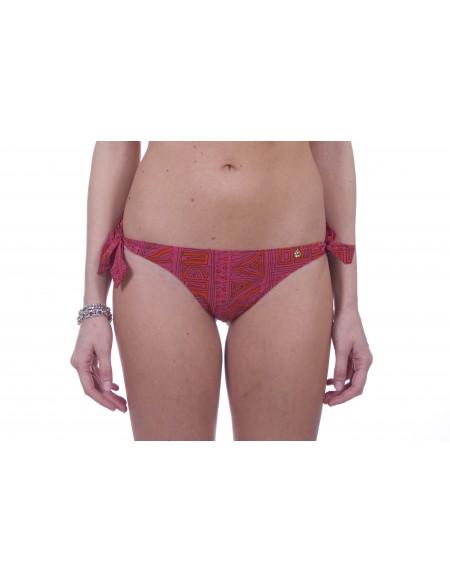 LOVE STORIES Slip Bikini a Fantasia nei Colori Rosa Arancione e Nero Modello Zoey Slate Rose